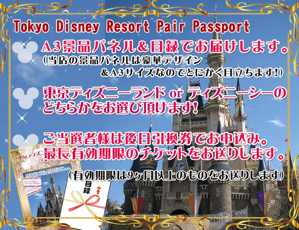 東京ディズニーリゾートペアチケット説明